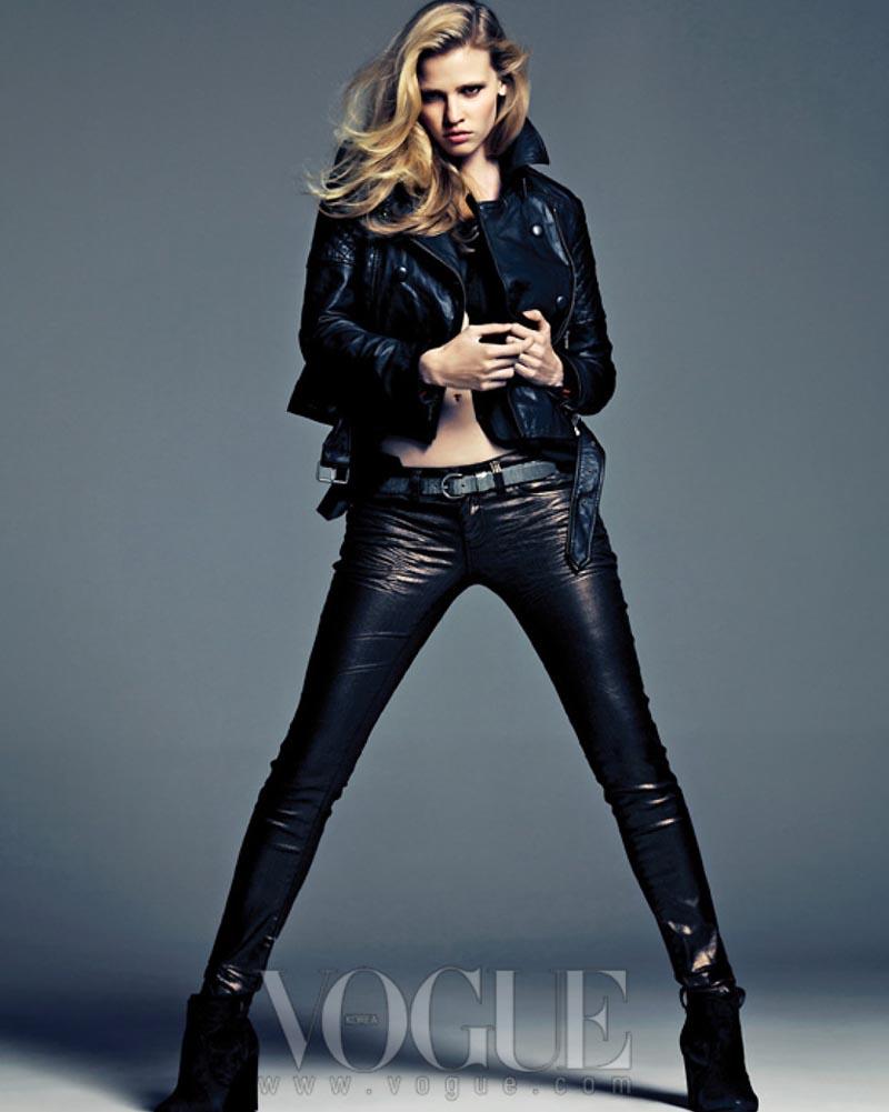 Lara Stone Rocks Calvin Klein for Vogue Korea's August 2012 Cover Shoot