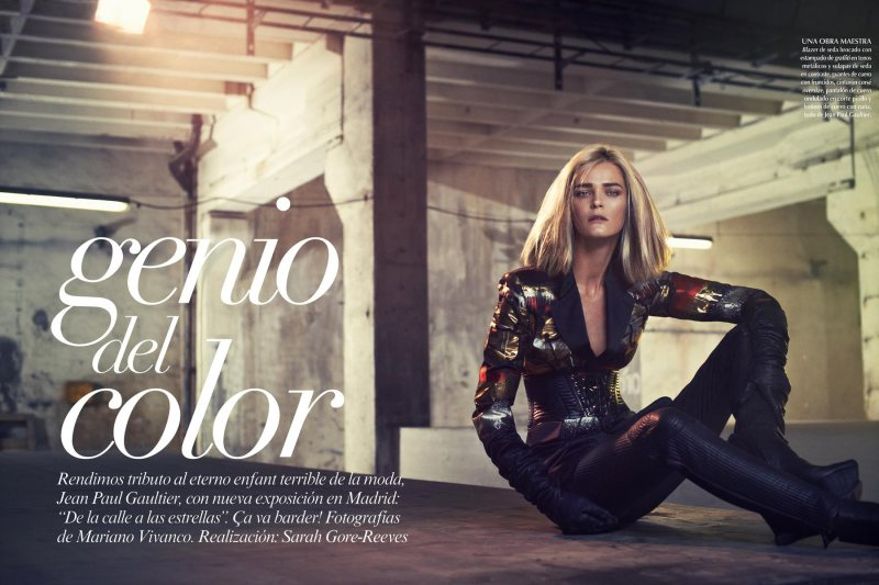 Carmen Kass Dons Jean Paul Gaultier for Vogue Latin America September 2012 by Mariano Vivanco