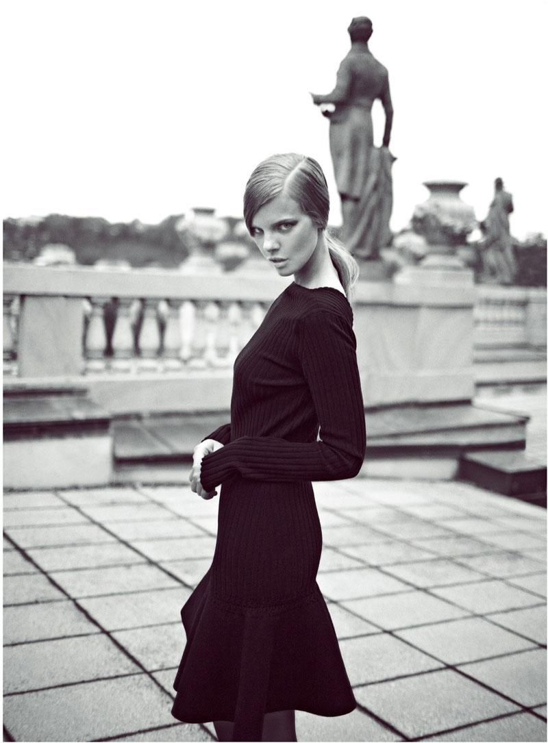 Marloes Horst Stars in the Harper's Bazaar Turkey September Cover Shoot by Koray Birand