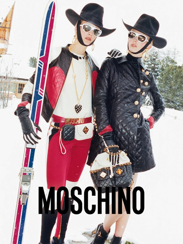 Ophelie Rupp & Ymre Stiekema Hit the Slopes for Moschino's Fall 2012 Campaign by Juergen Teller