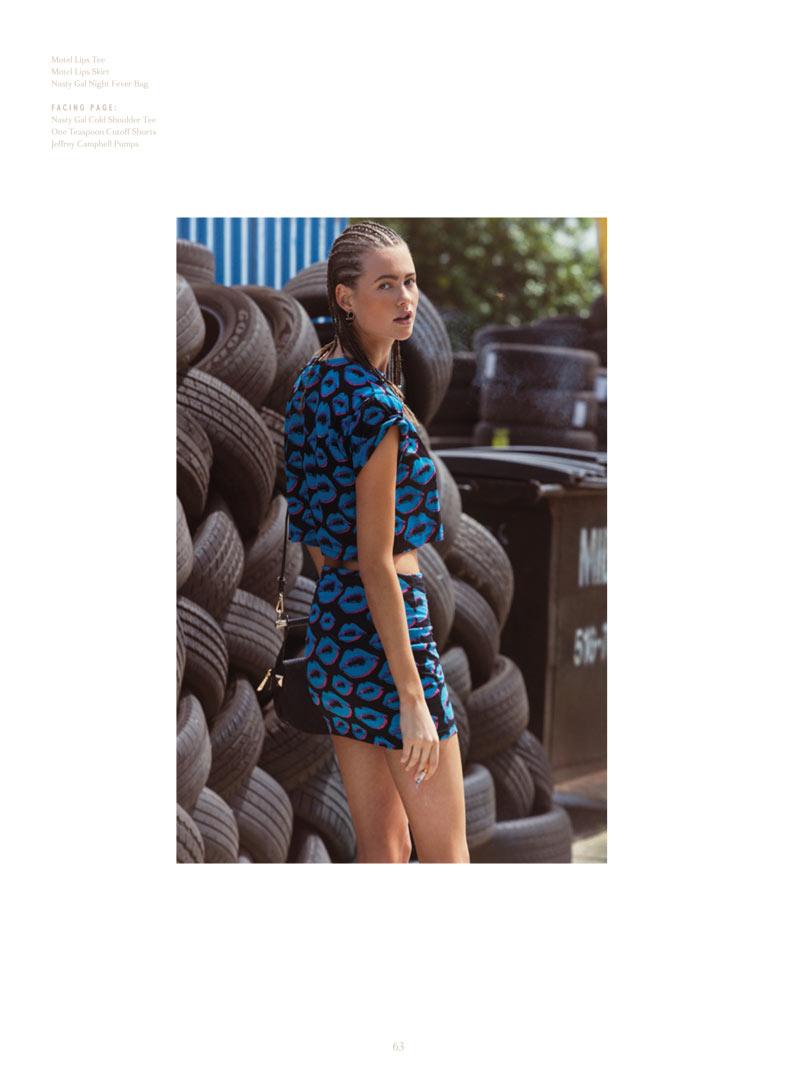 Behati Prinsloo Takes on Street Style for Super Nasty Magazine