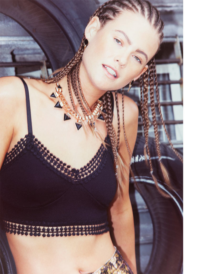 Behati Prinsloo Takes on Street Style for Super Nasty Magazine