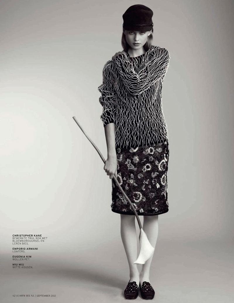 Behati Prinsloo Gets Printed for L'Officiel Netherlands' September 2012 Cover Shoot