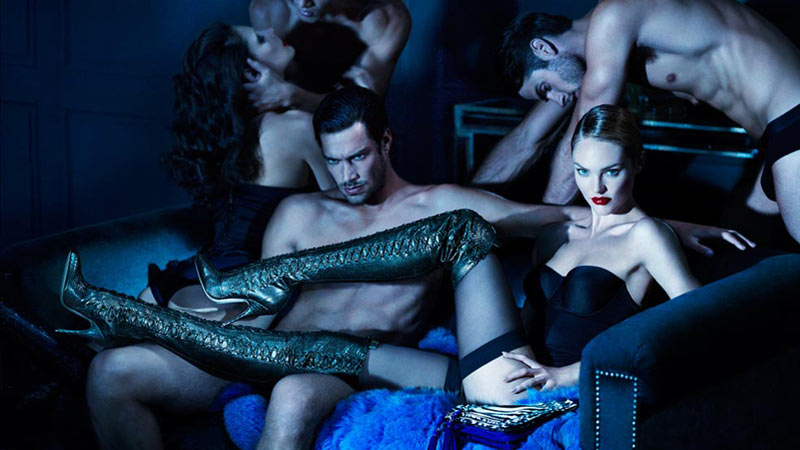Candice Swanepoel Sells Sex for Brian Atwood's Fall 2012 Campaign by Mert & Marcus