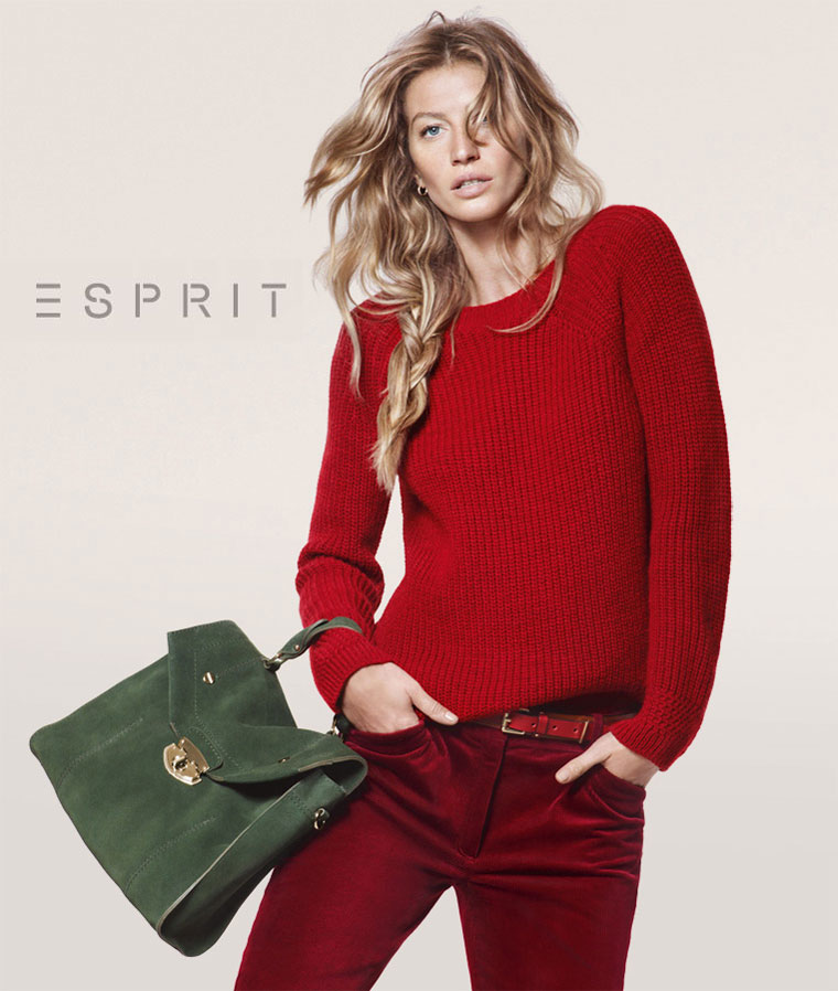 Gisele Bundchen Sports Relaxed Style For Esprit's Fall