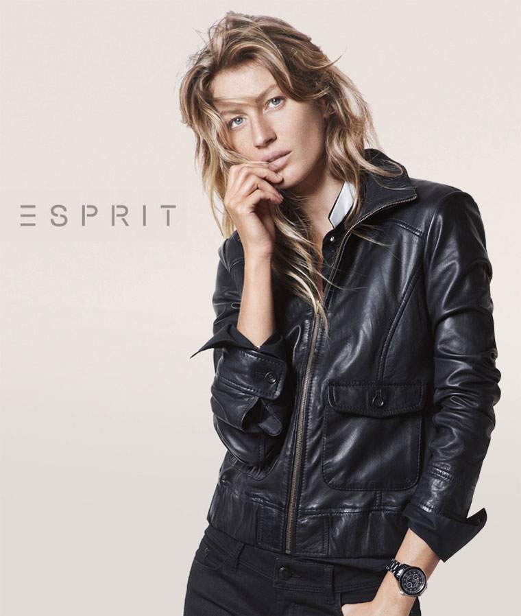 Gisele Bundchen Sports Relaxed Style for Esprit's Fall 2012 Campaign by David Sims