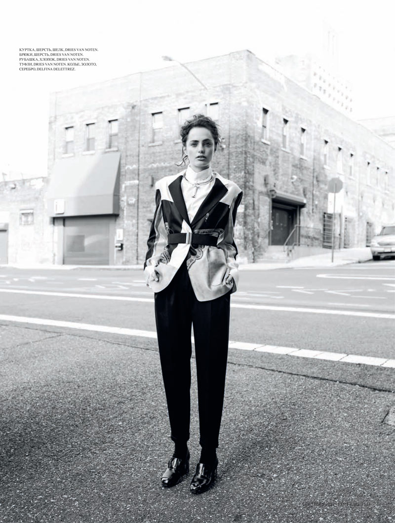 Marinet Matthee Dons Modern Style for L'Officiel Ukraine September 2012