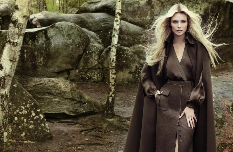 Natasha Poly Models Fall Looks for the September Cover Shoot of Vogue Turkey