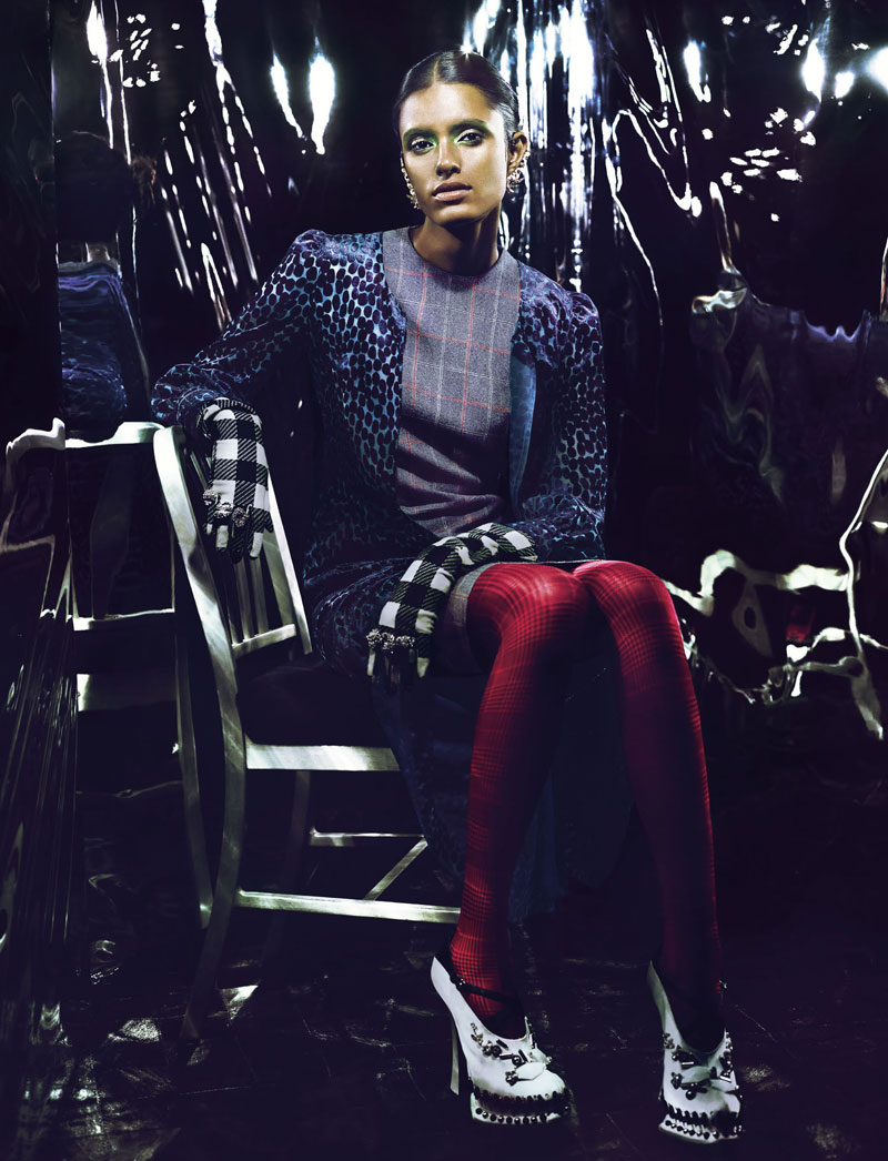 Lakshmi Menon Sports Geometric Fashions for Vision China September 2012 by Yasunari Kikuma