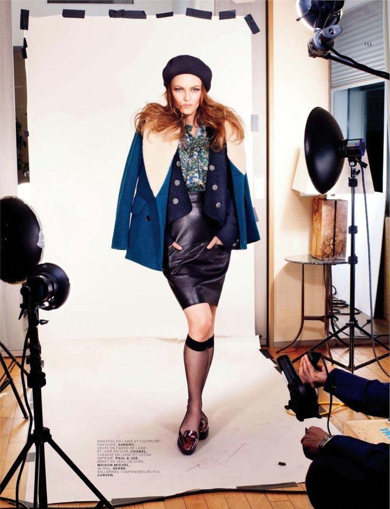 Vanessa Paradis Takes on Parisian Fashion for Jalouse's September 2012 Cover Shoot
