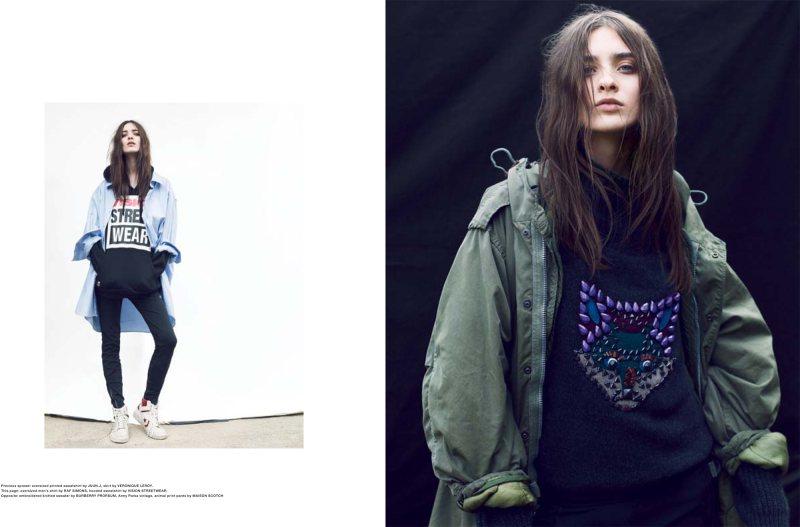 Carolina Thaler Embraces Grunge Style for Sleek Magazine