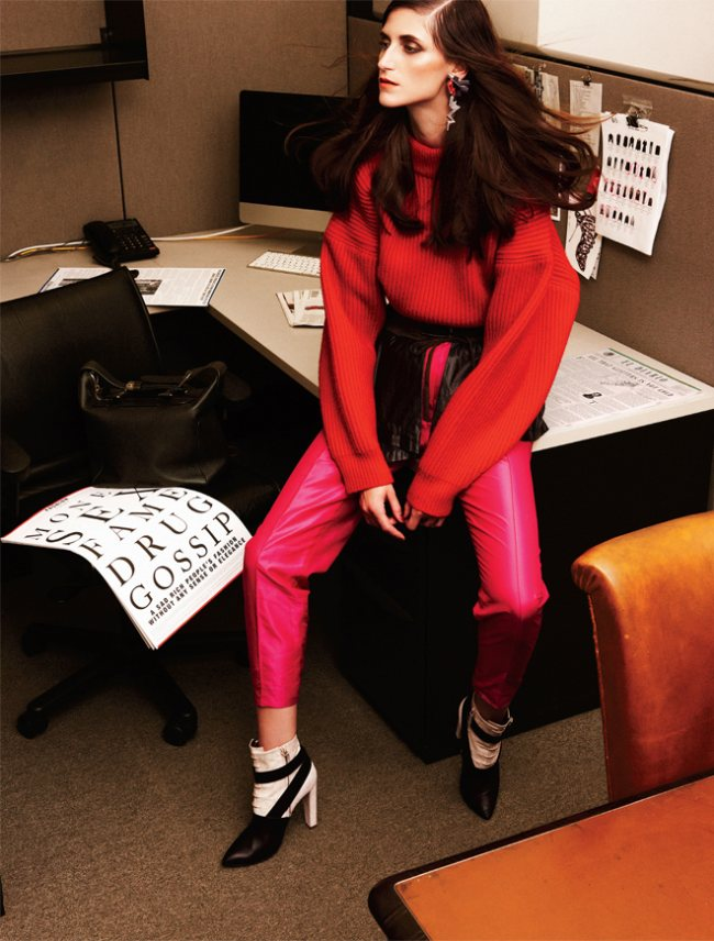 Daiane Conterato is Chic at Work for Elle Mexico's October Cover Shoot by Takahiro Ogawa