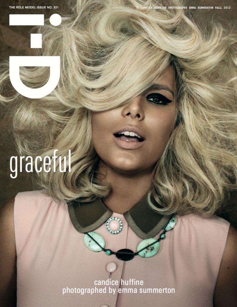 Iselin Steiro, Jourdan Dunn, Aymeline Valade & Candice Huffine Cover i-D's Fall 2012 Issue