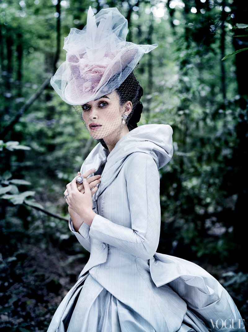 Keira Knightley Covers Vogue US October 2012 in Chanel Haute Couture