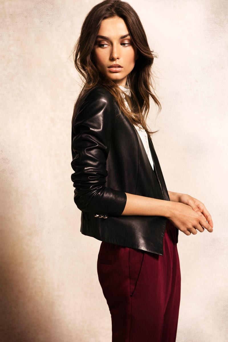 Andreea Diaconu Stars in the Massimo Dutti September 2012 Lookbook