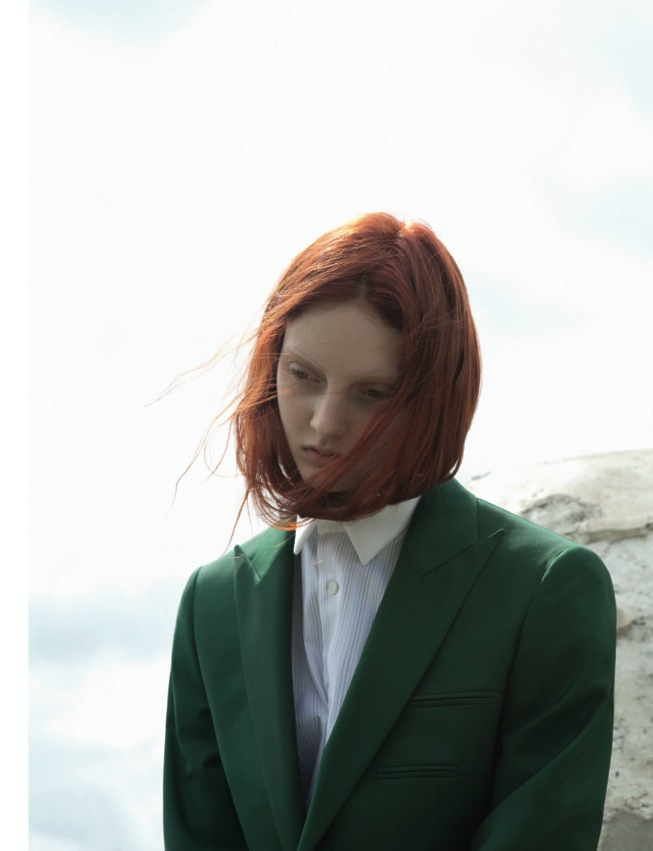 Codie Young Dons Raf Simons for Black F/W 2012 by Karen Inderbitzen-Waller
