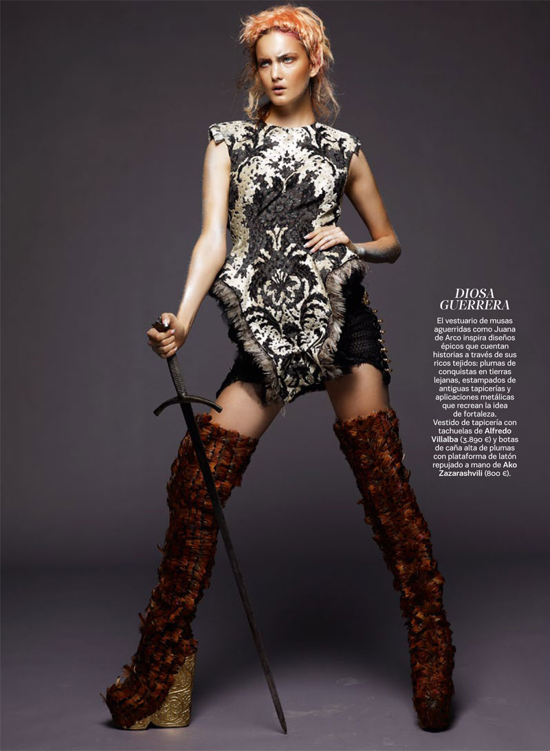 Satoshi Saikusa Captures Medieval Fantasy with Ella Kandyba and Nadine Ponce for S Moda September 2012