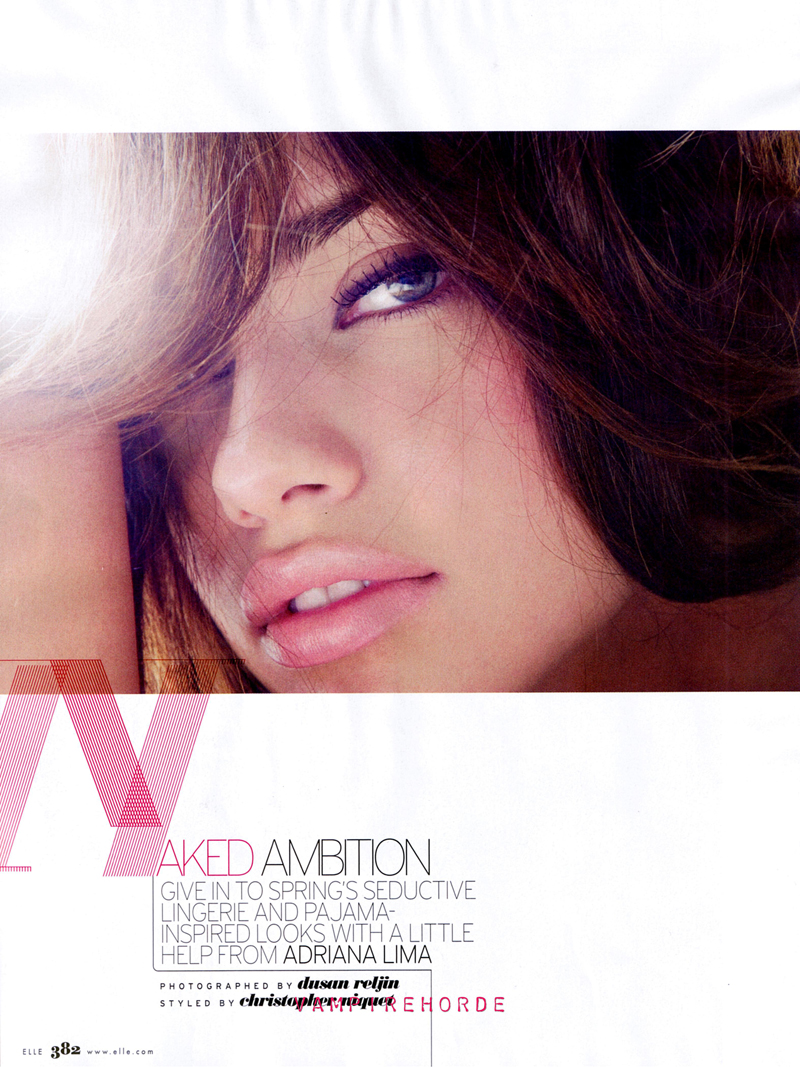 Adriana Lima in 'Naked Ambition'
