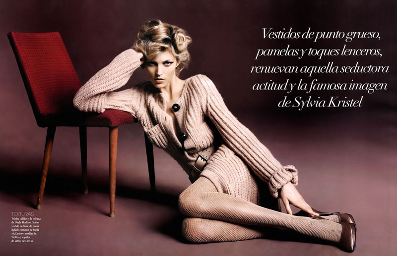 Anja Rubik for Vogue Latin America October 2010 by Marcin Tyszka