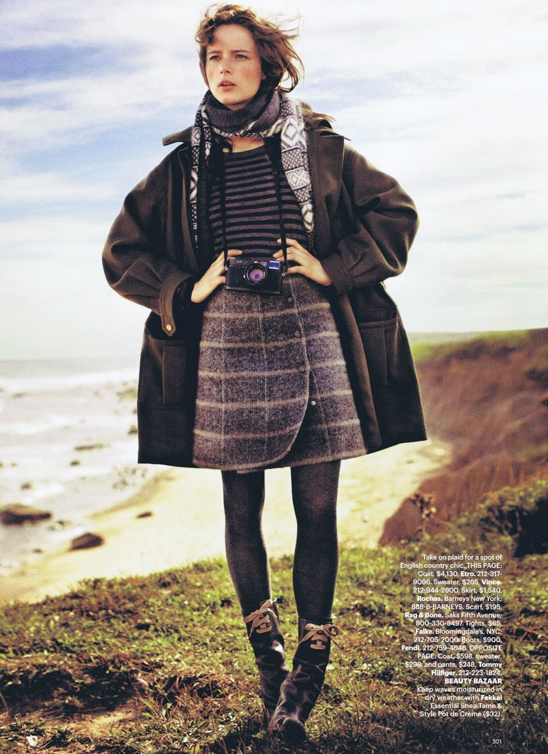 Anna de Rijk by John Balsom for Harper's Bazaar US November 2010