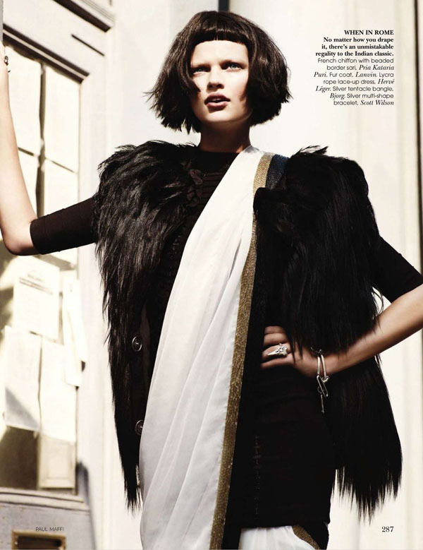 Bette Franke by Paul Maffi for Vogue India October 2010