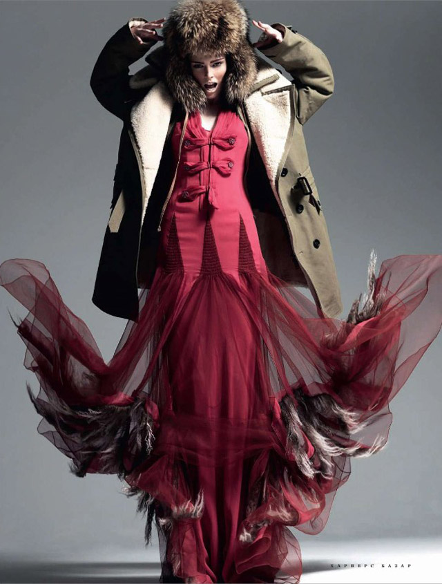 Coco Rocha for Harper's Bazaar Russia November 2010 by Alan Gelati