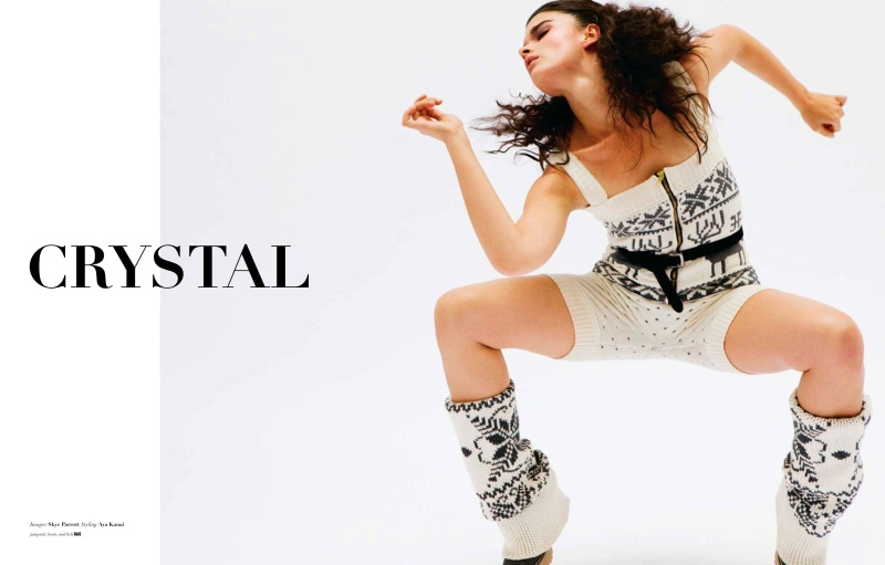 Crystal Renn for The Block Fall 2010 by Skye Parrott