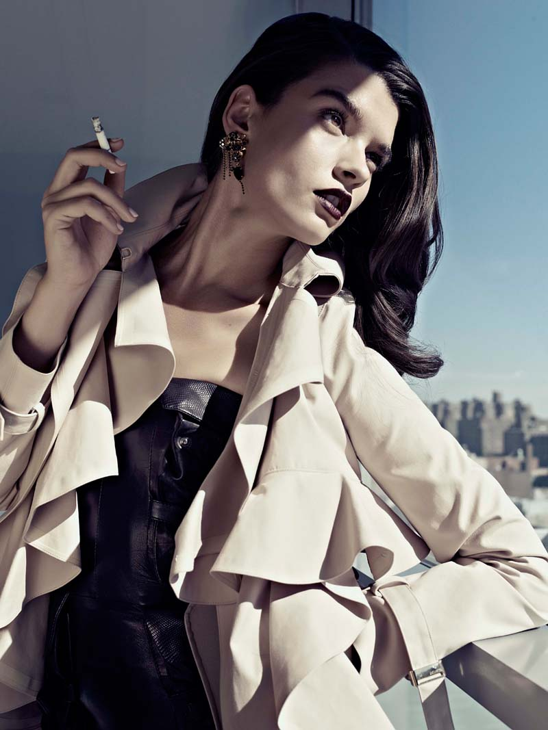 Crystal Renn by Philip Riches for Avant Garde November 2010