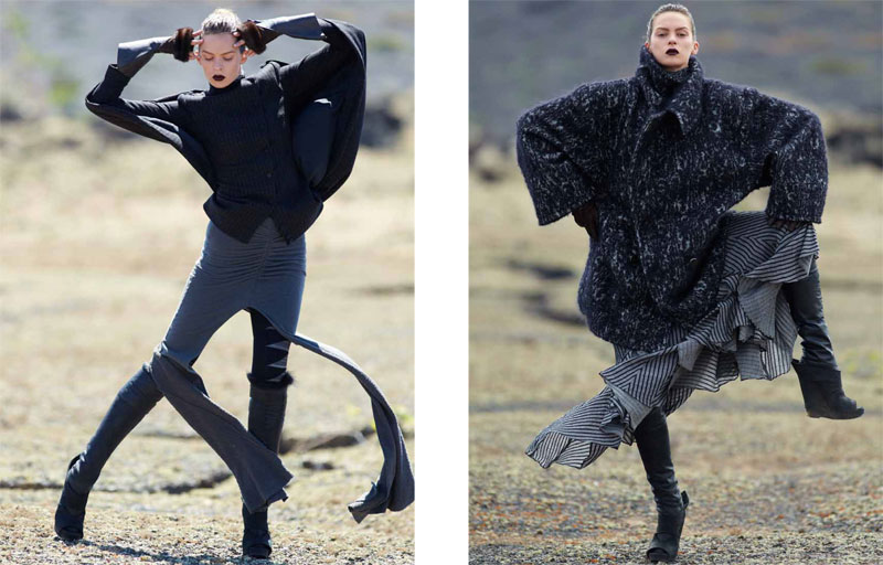 Elise Crombez by Hans Feurer for Vogue Turkey October 2010