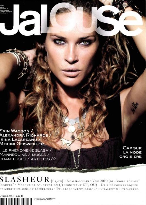 Jalouse November 2010 Cover   Erin Wasson