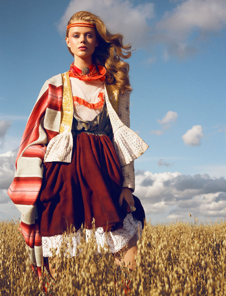 Frida Gustavsson by Magnus Magnusson for Elle Sweden November 2010
