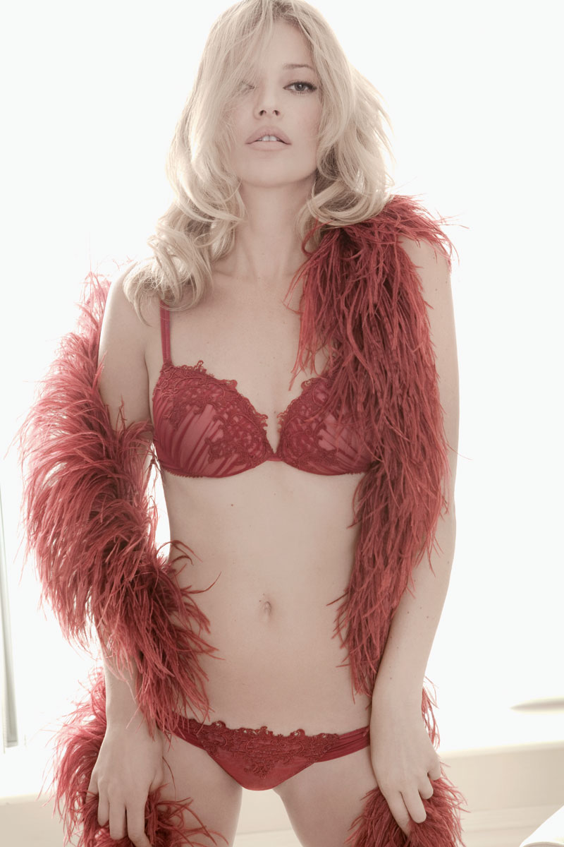 Kate Moss by Gui Paganini for Valisere Lingerie 2010 Campaign