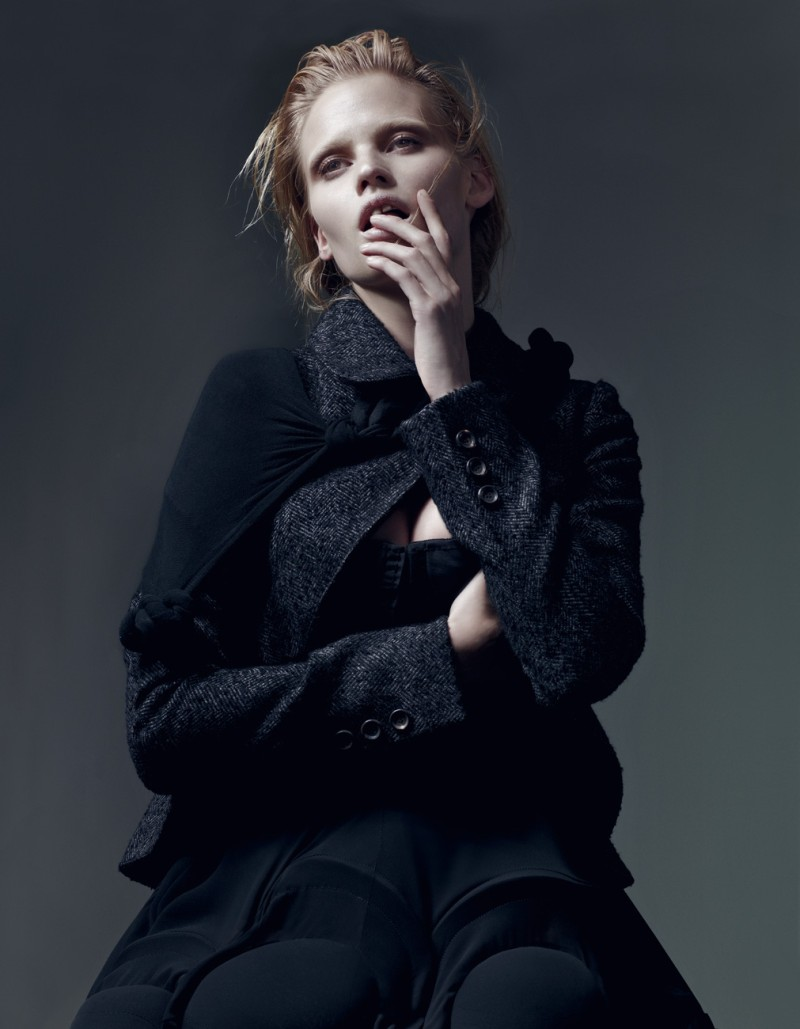 Lara Stone by Craig McDean for Interview October 2010