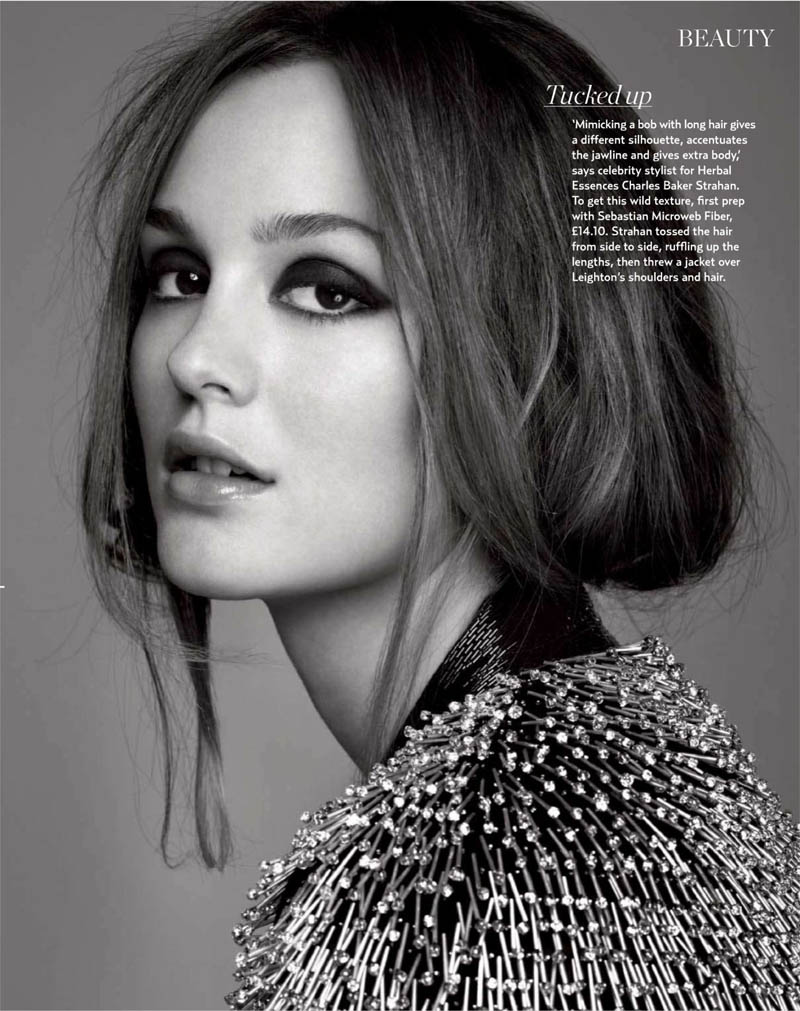Leighton Meester by Christophe Meimoon for Marie Claire UK December 2010