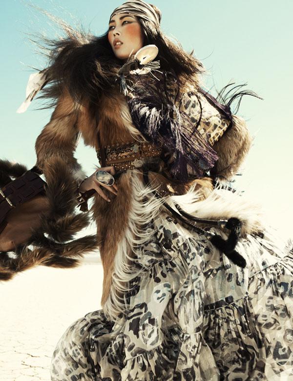 Liu Wen by Greg Kadel in Wild Dreams | Vogue Germany November 2010