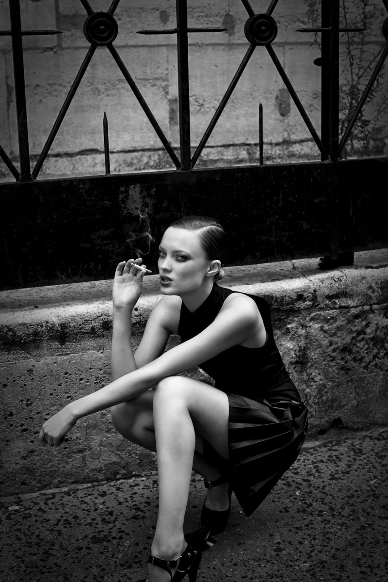 Naty Chabanenko by Hugh Lippe for Cushnie et Ochs Spring 2011 Campaign