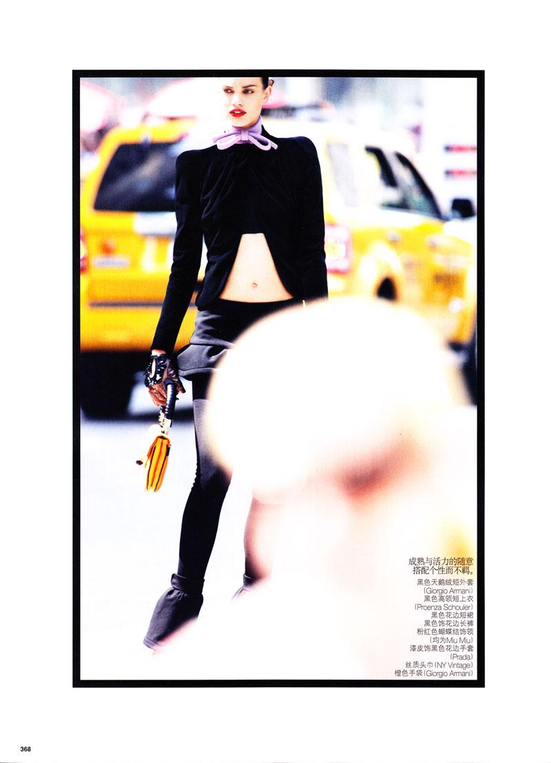Rianne ten Haken by Daniel Jackson in Urban Jungle | Vogue China November 2010