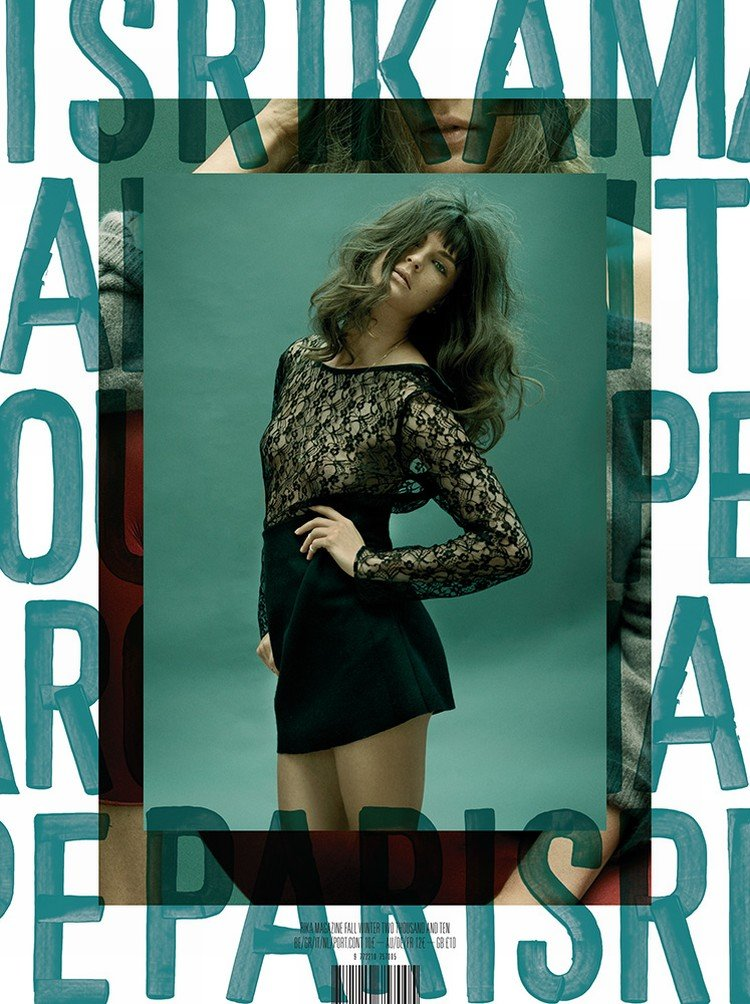 Rika Magazine #3 Cover   Irina Lazareanu & Anouck Lepere by Marc Hom