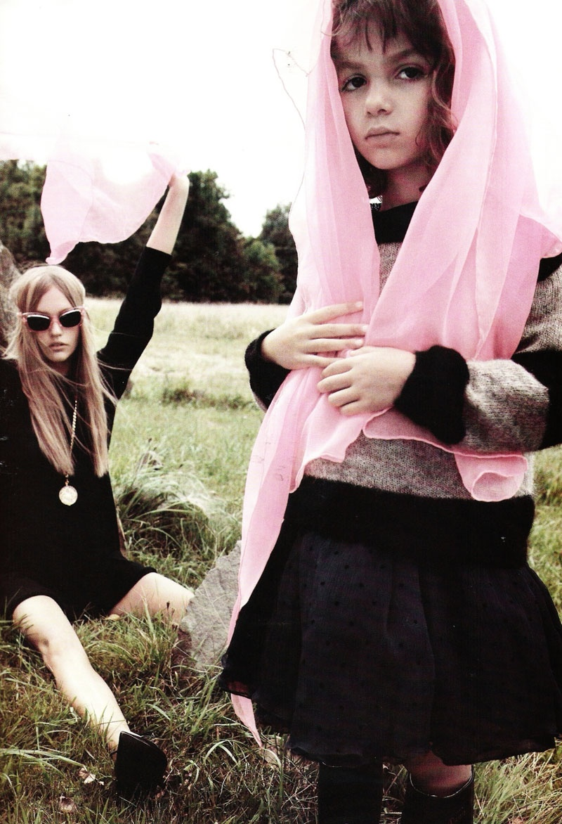 Sasha Pivovarova by Mikael Jansson for Vogue Paris November 2010