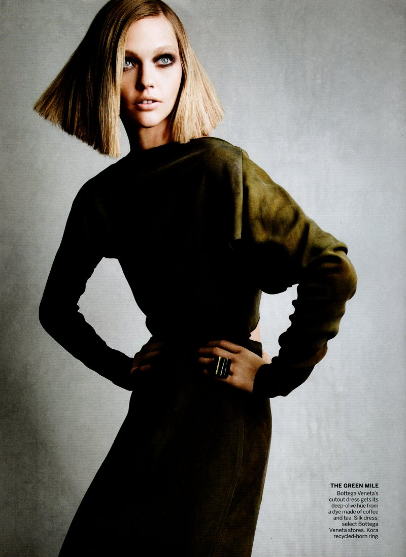 Sasha Pivovarova by Patrick Demarchelier for Vogue US November 2010