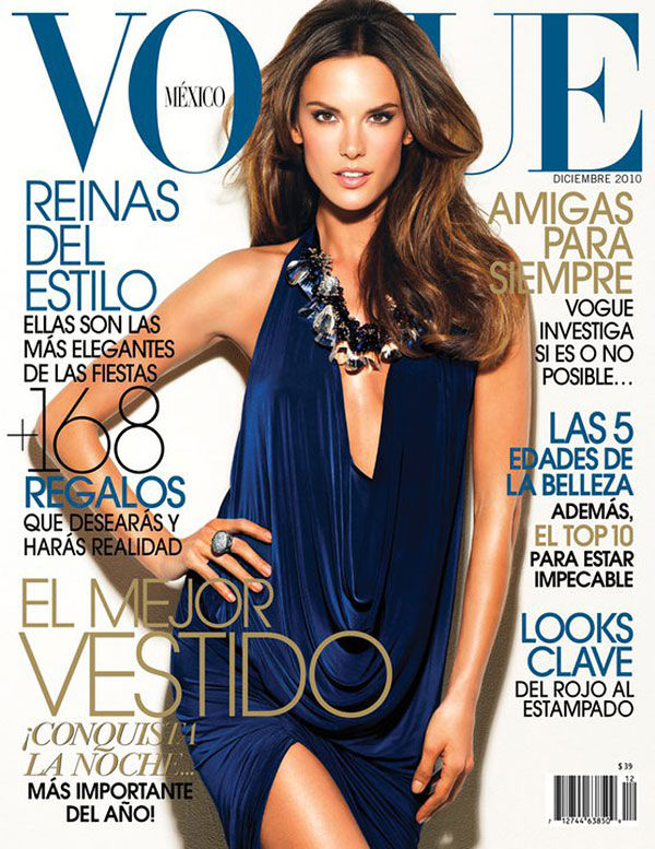 Vogue Mexico December 2010 Cover | Alessandra Ambrosio by Stewart Shining