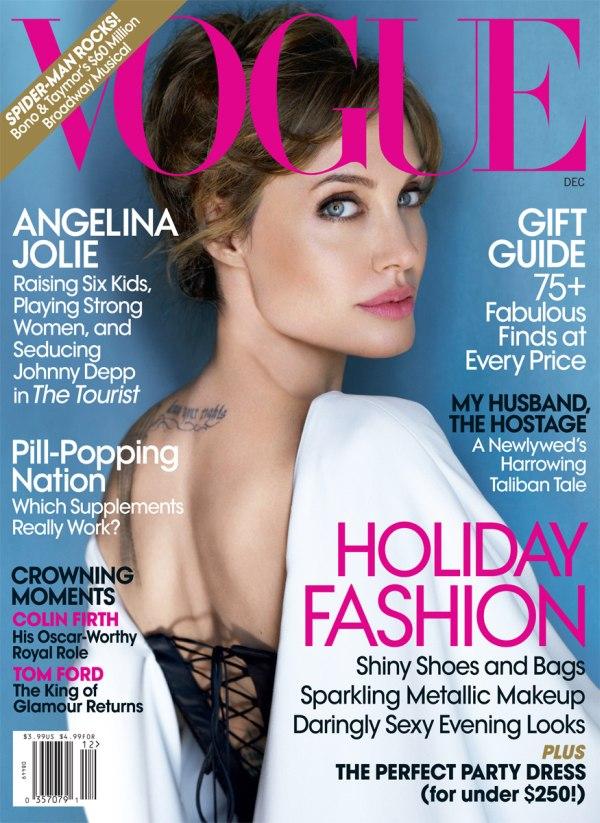 Vogue US December 2010 Cover | Angelina Jolie by Mario Testino