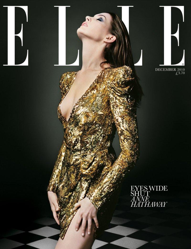 Elle UK December 2010 Cover | Anne Hathaway