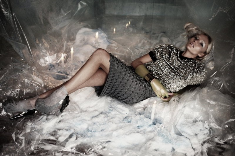 Clara Paget by Damon Baker in Precipitation | Sheer Magazine #1