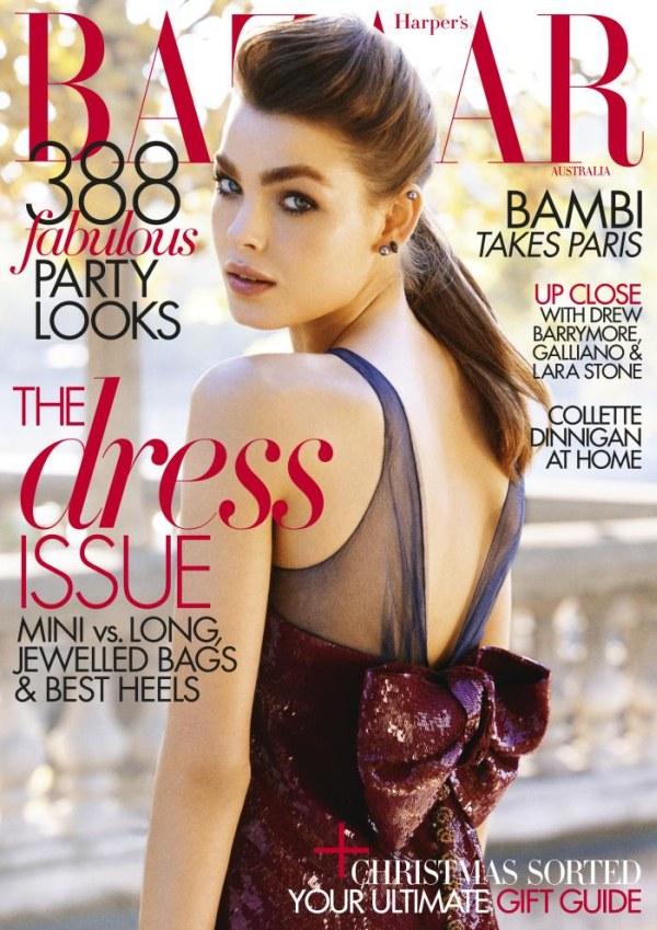Harper's Bazaar Australia December 2010 Cover | Bambi Northwood-Blyth by Victor Demarchelier