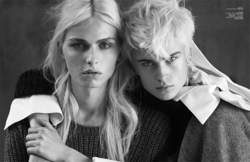 Andrej Pejic & Jana K for Vogue Turkey November 2010 by Matthew Brookes