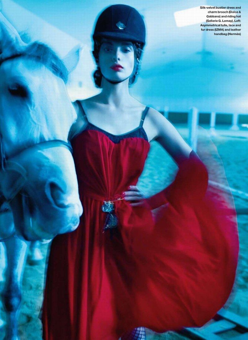 Crystal Renn for Elle Canada December 2010 by Leda & St. Jacques