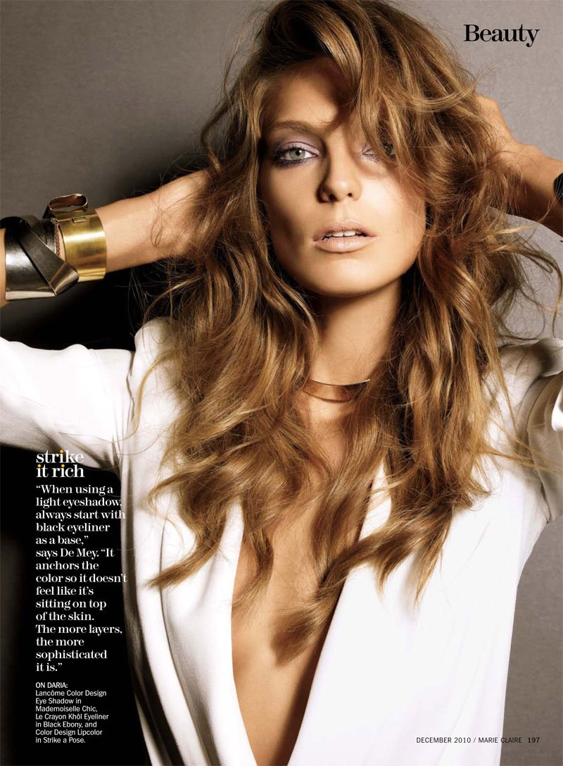 Daria Werbowy by Tesh for Marie Claire US December 2010