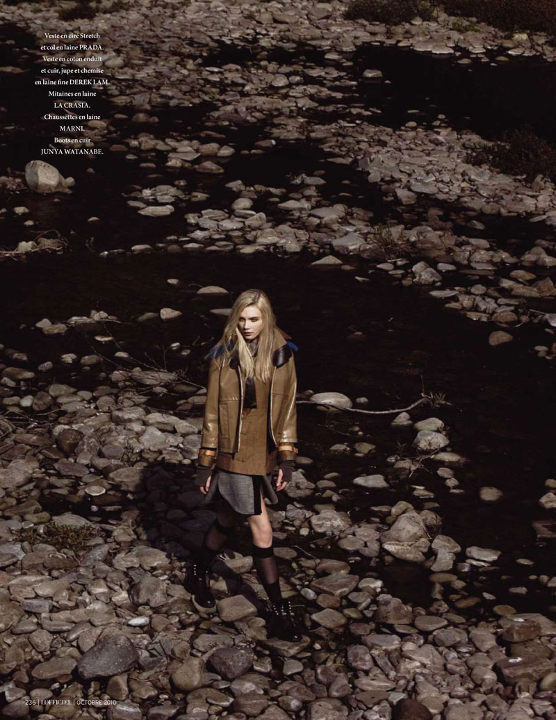 Daria Zhemkova by Trent McGinn for L'Officiel