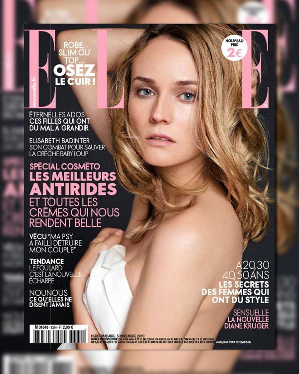 Elle France November 5, 2010 Cover | Diane Kruger